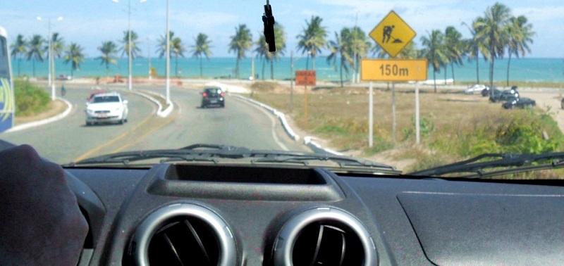 Carro em Maragogi
