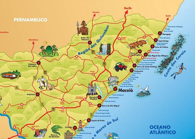 Mapa - Alagoas