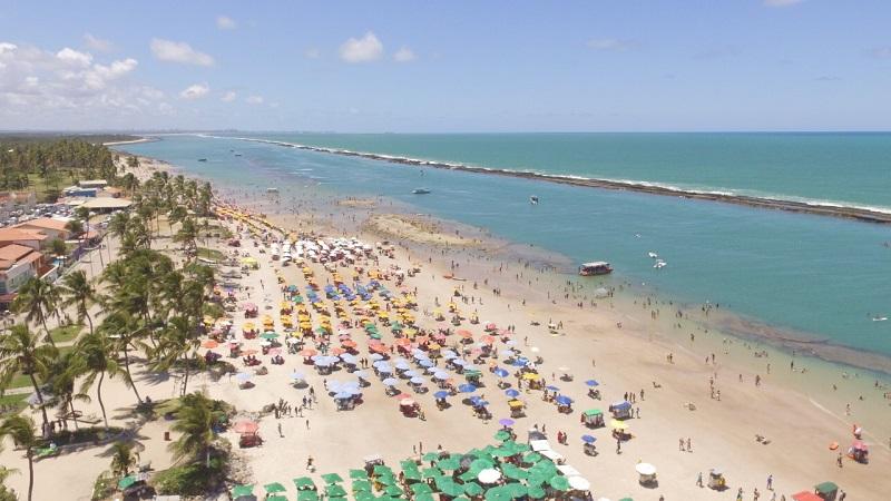 Praia do Francês próxima a Maceió