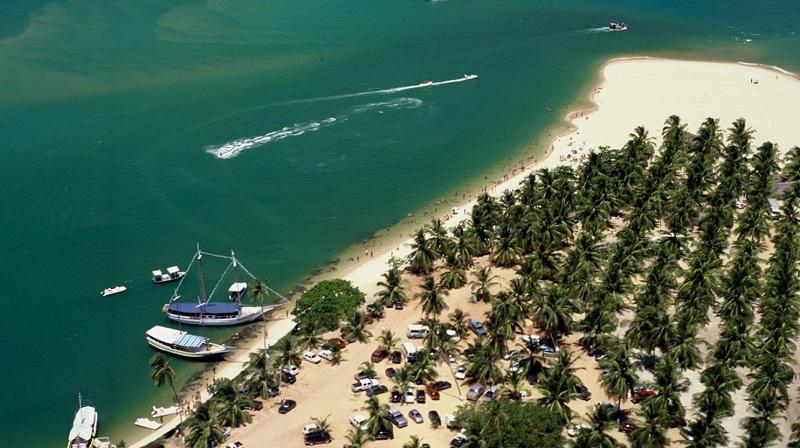 Beleza da praia do Gunga no Alagoas