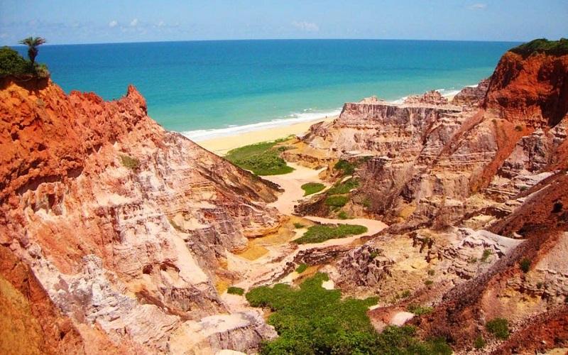 Falésias da praia do Gunga
