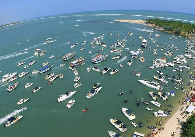 Praia do Gunga próxima a Maceió
