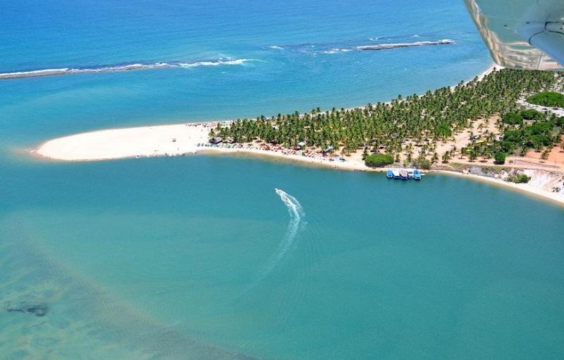 Praia do Gunga nas proximidades de Maceió
