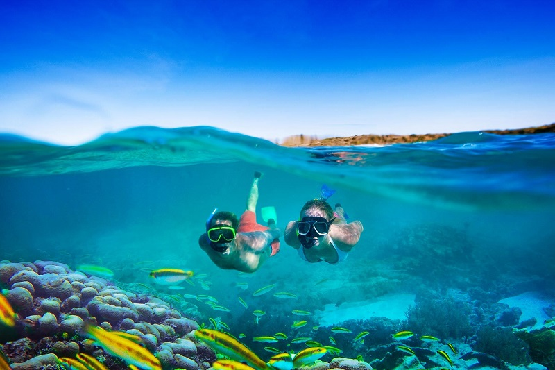 Mergulho de snorkel na praia de Ipioca